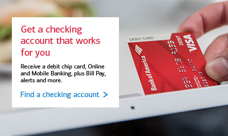 Find a checking account that works for you.