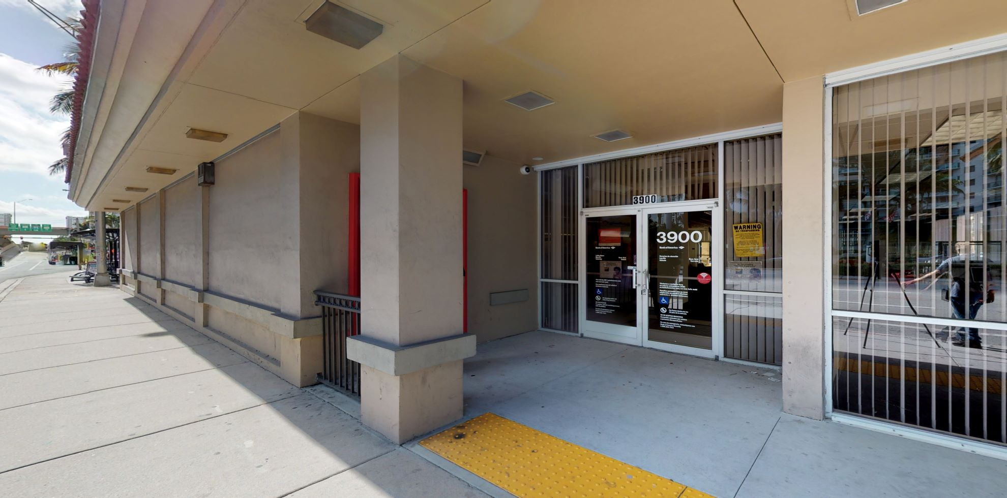 Bank of America financial center with walk-up ATM   3900 S Ocean Dr, Hollywood, FL 33019
