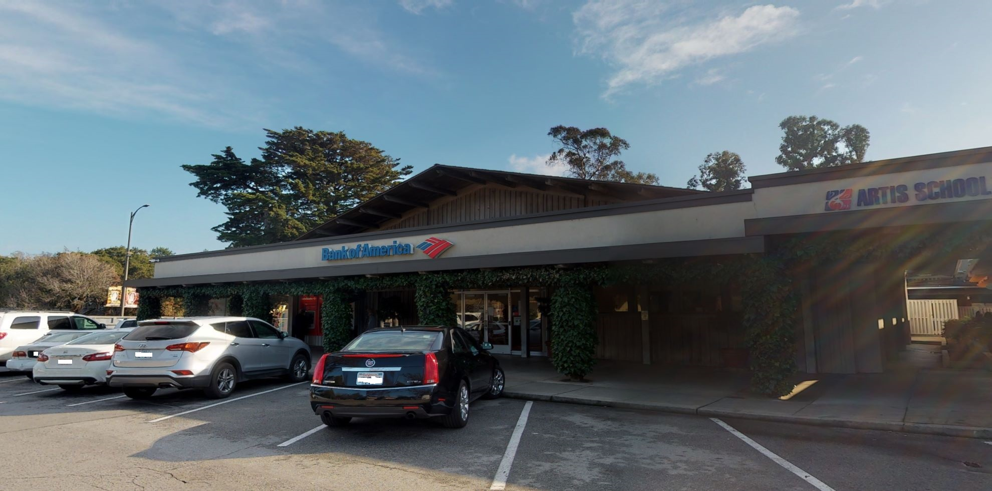 Bank of America financial center with walk-up ATM   2031 Ralston Ave, Belmont, CA 94002