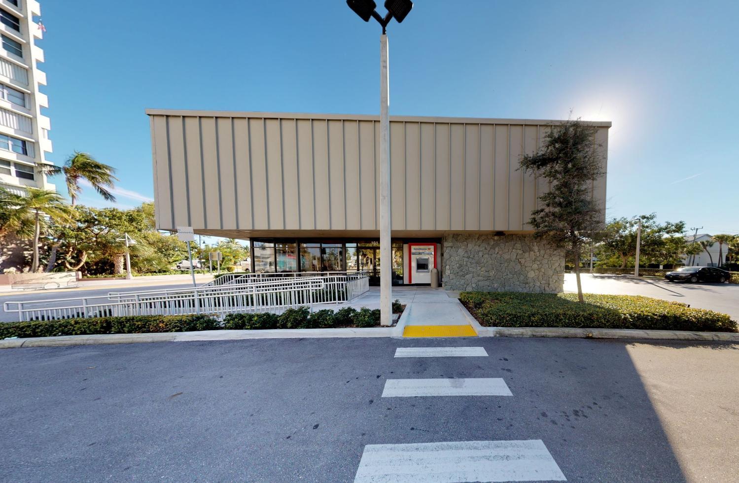 Bank of America financial center with drive-thru ATM   101 S Ocean Blvd, Pompano Beach, FL 33062