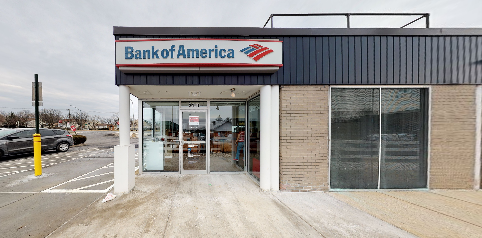 Bank of America financial center with drive-thru ATM | 2101 Bel Pre Rd, Silver Spring, MD 20906