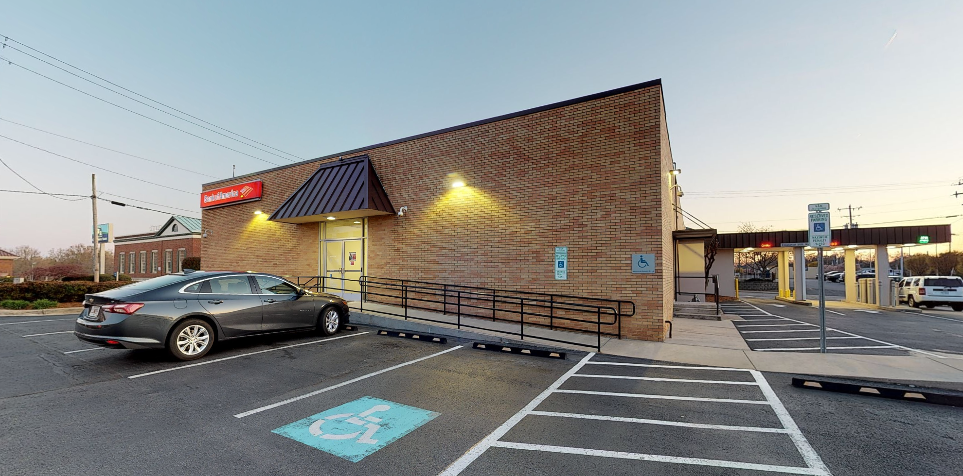 Bank of America financial center with drive-thru ATM   314 N Main St, Mooresville, NC 28115