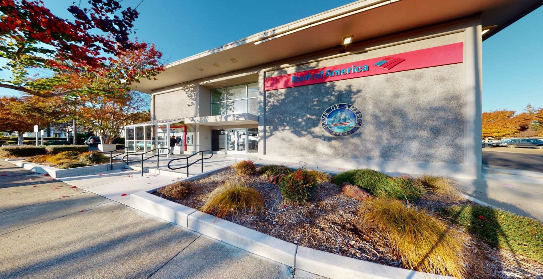 Bank of America financial center with walk-up ATM | 1700 1st St, Napa, CA 94559