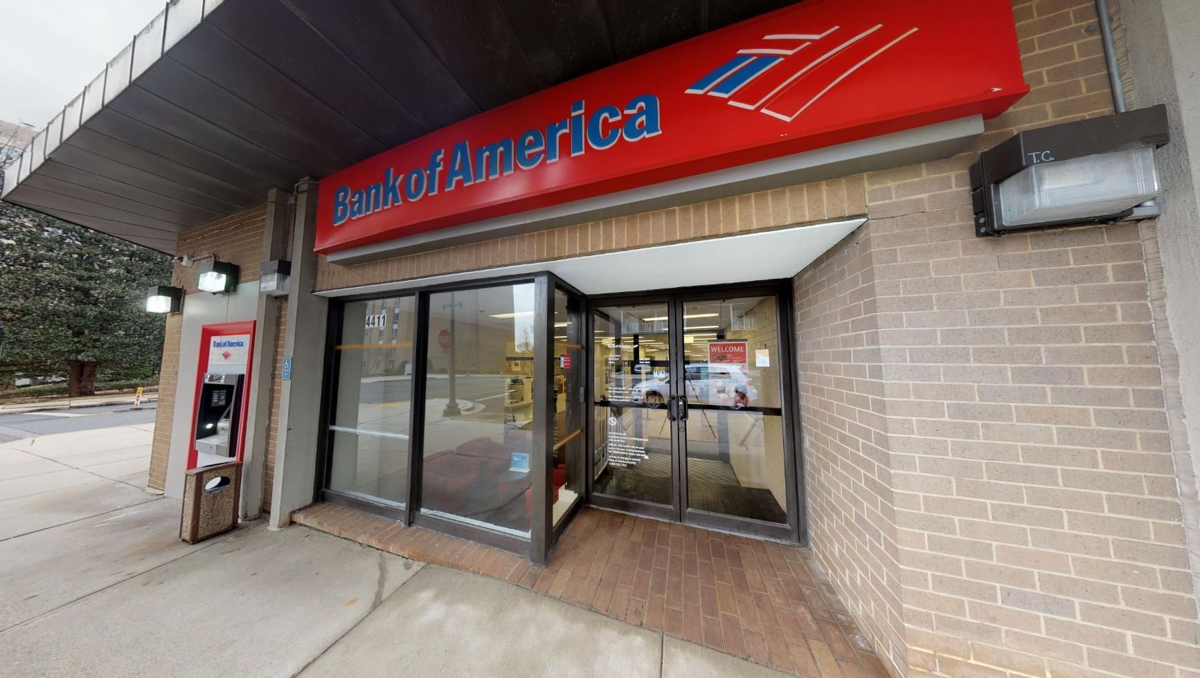 Bank of America financial center with walk-up ATM   4411 S Park Ave, Chevy Chase, MD 20815
