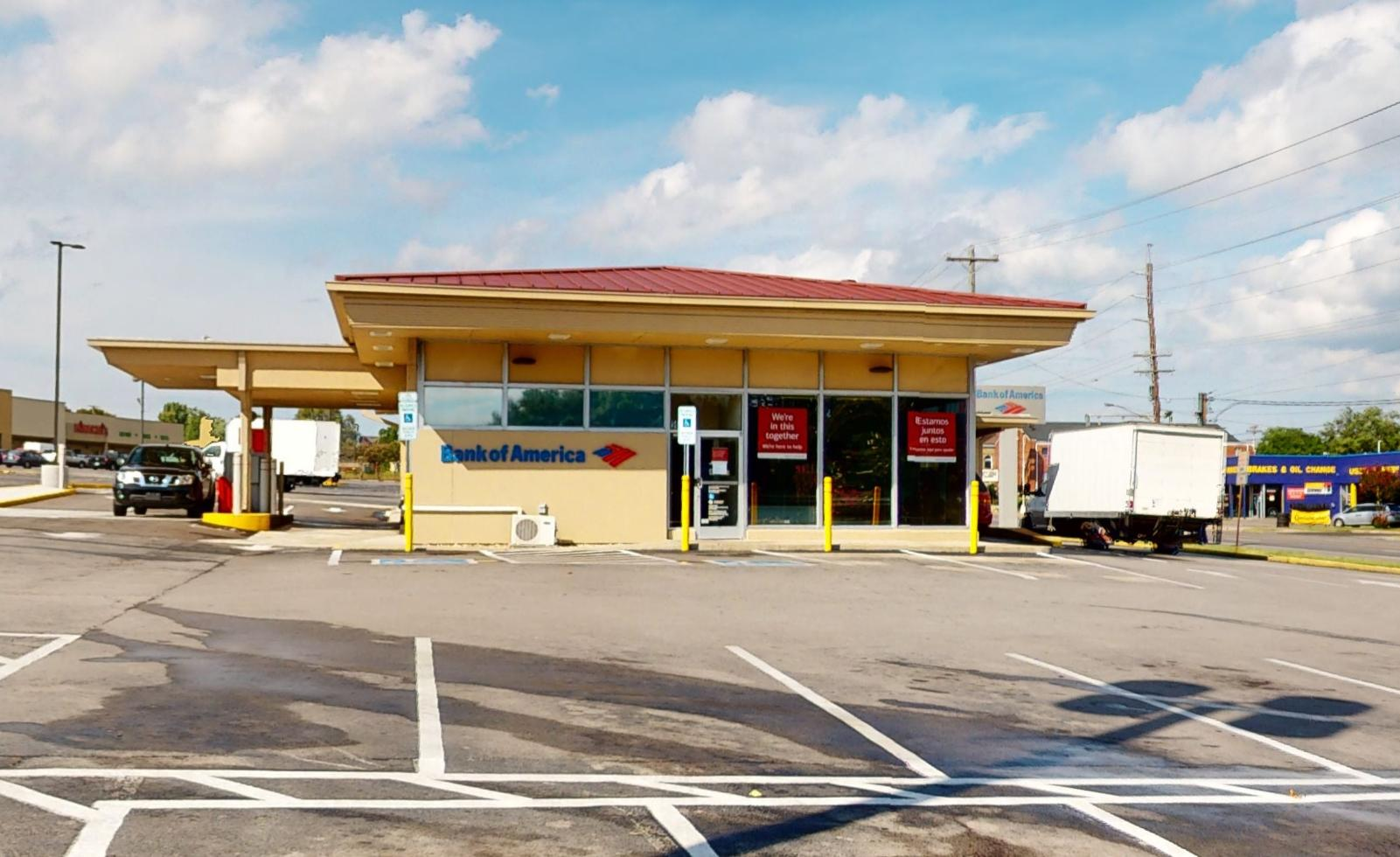 Bank of America financial center with drive-thru ATM and teller   969 Gallatin Pike S, Nashville, TN 37115