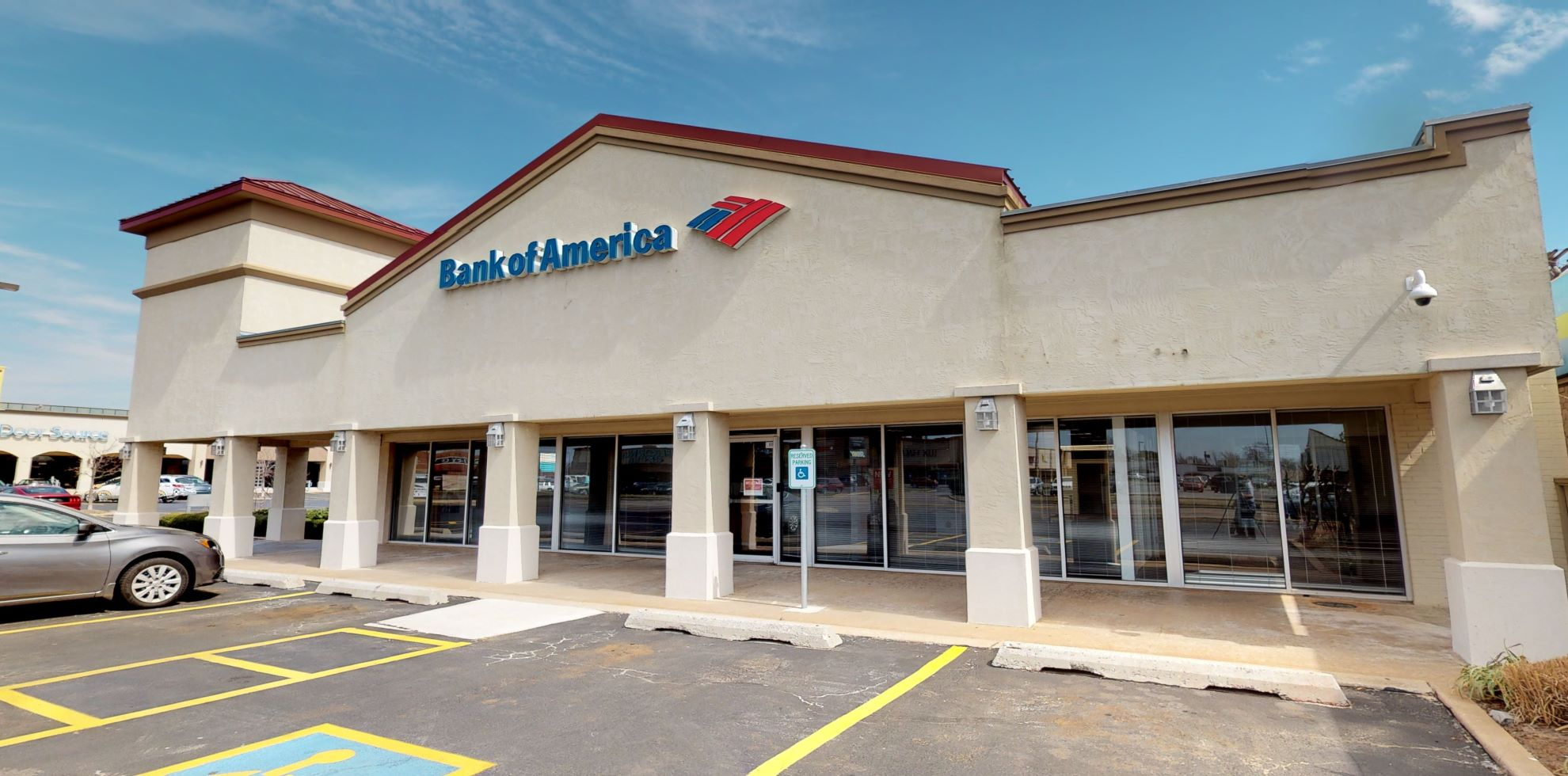 Bank of America financial center with drive-thru ATM   9404 N May Ave, Oklahoma City, OK 73120