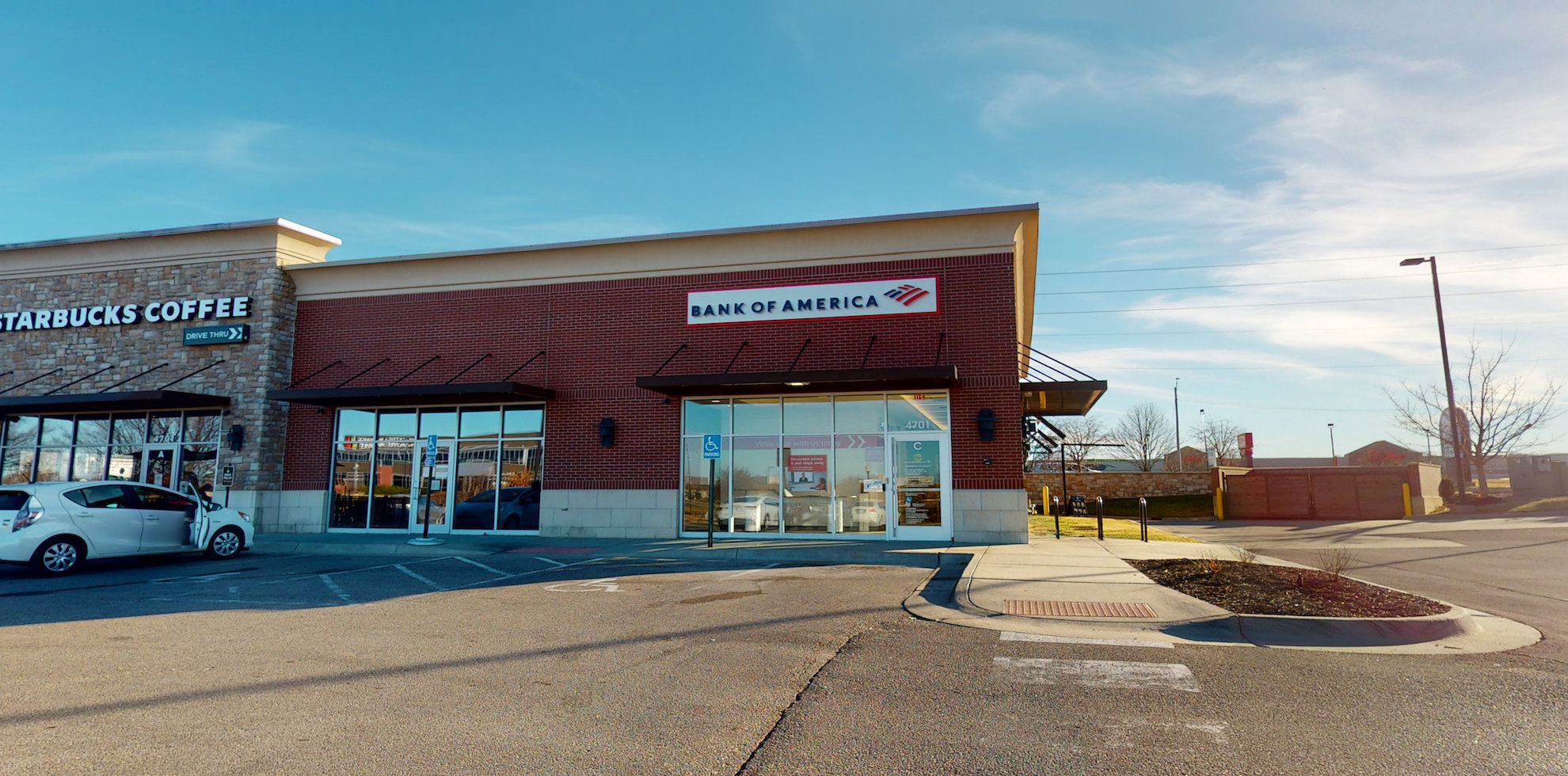 Bank of America Advanced Center with walk-up ATM | 4701 Bauer Farm Dr STE C, Lawrence, KS 66049
