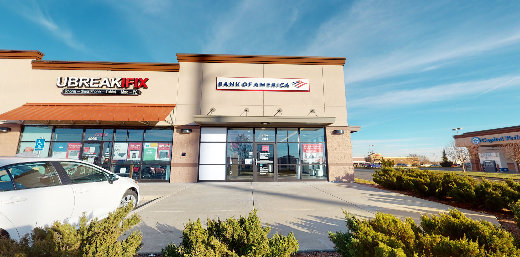 Bank of America Advanced Center with walk-up ATM | 1700 N Rock Rd STE 100, Derby, KS 67037
