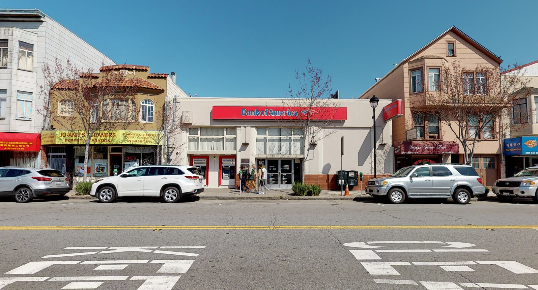 Bank of America financial center with walk-up ATM   2485 San Bruno Ave, San Francisco, CA 94134