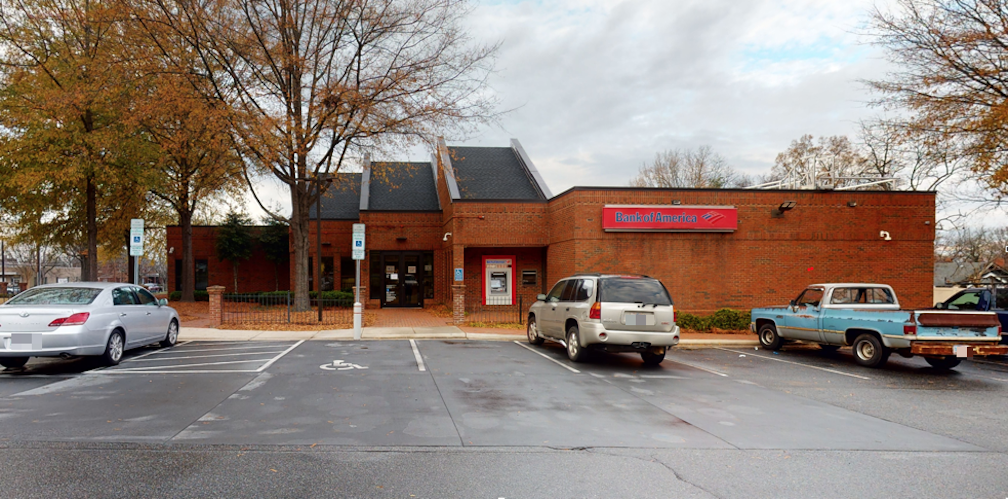 Bank of America financial center with drive-thru ATM and teller   500 W Innes St, Salisbury, NC 28144