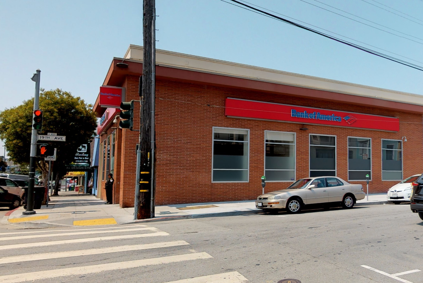 Bank of America financial center with walk-up ATM | 5500 Geary Blvd, San Francisco, CA 94121