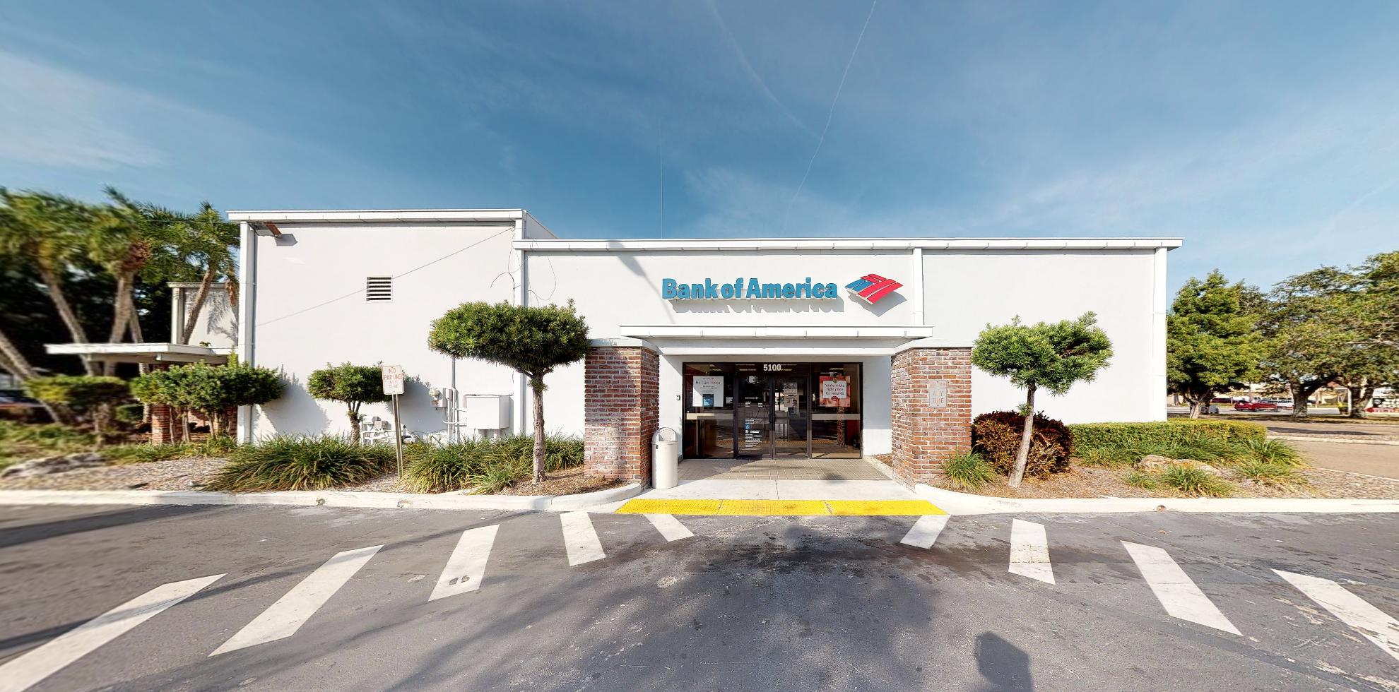 Bank of America financial center with drive-thru ATM | 5100 Park Blvd, Pinellas Park, FL 33781