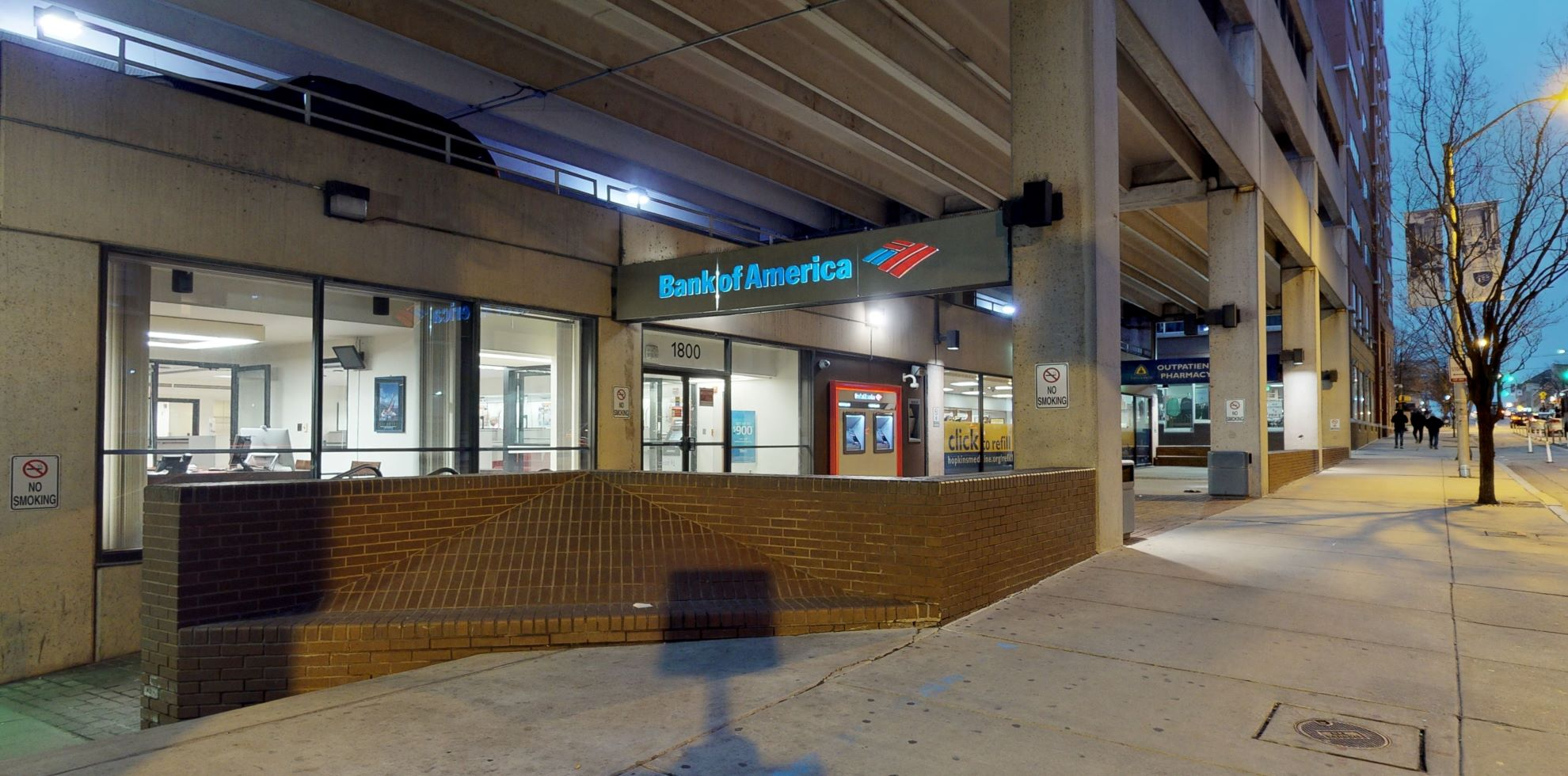 Bank of America financial center with walk-up ATM | 1800 E Monument St, Baltimore, MD 21205