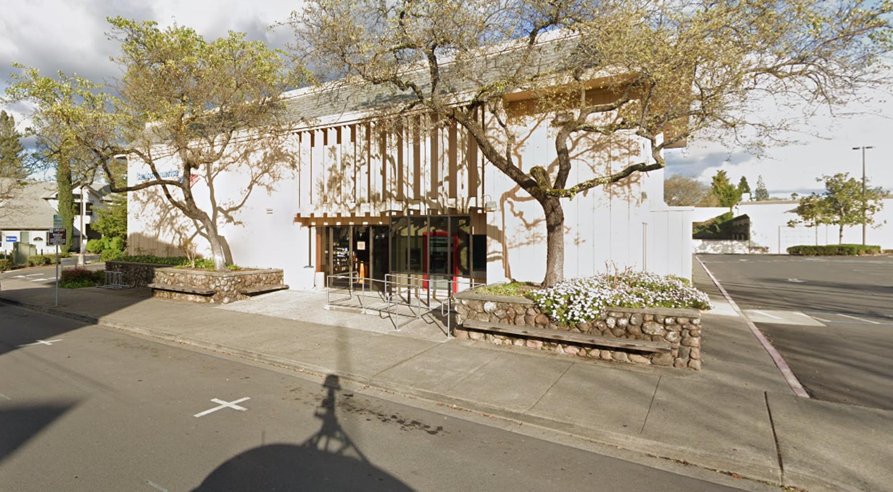 Bank of America financial center with drive-thru ATM   1001 Adams St, Saint Helena, CA 94574