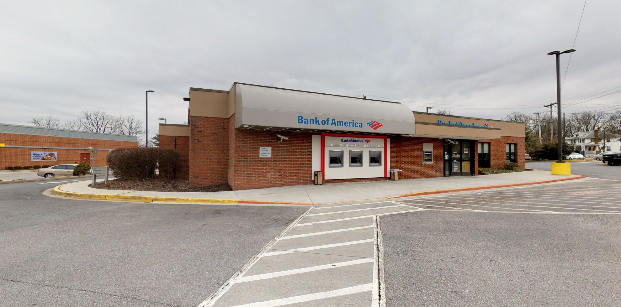 Bank of America financial center with drive-thru ATM   8235 Liberty Rd, Baltimore, MD 21244