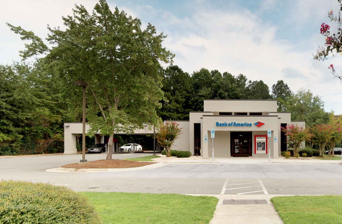 Bank of America financial center with drive-thru ATM   4811 Hope Valley Rd, Durham, NC 27707