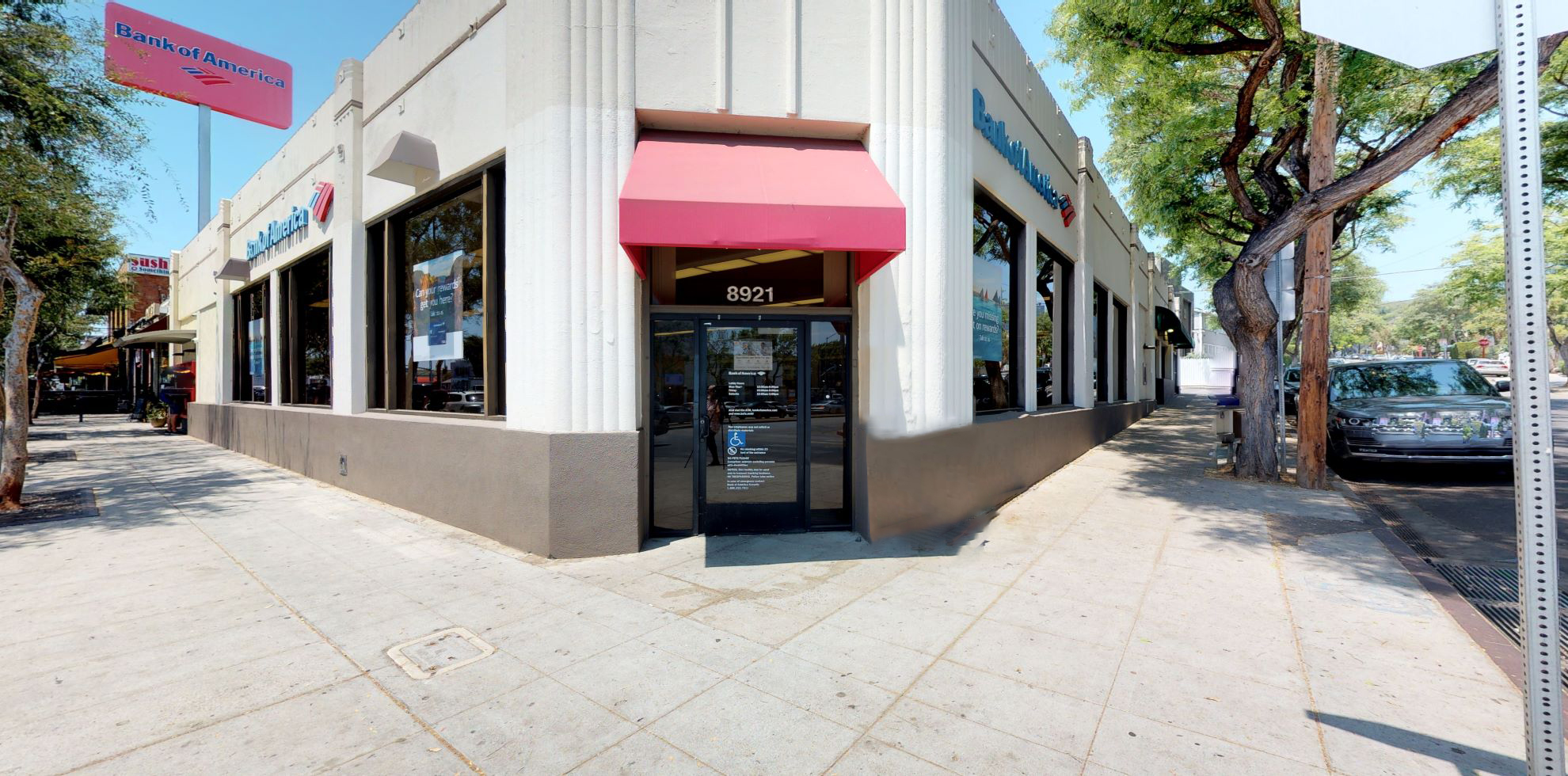 Bank of America financial center with walk-up ATM | 8921 Santa Monica Blvd, West Hollywood, CA 90069