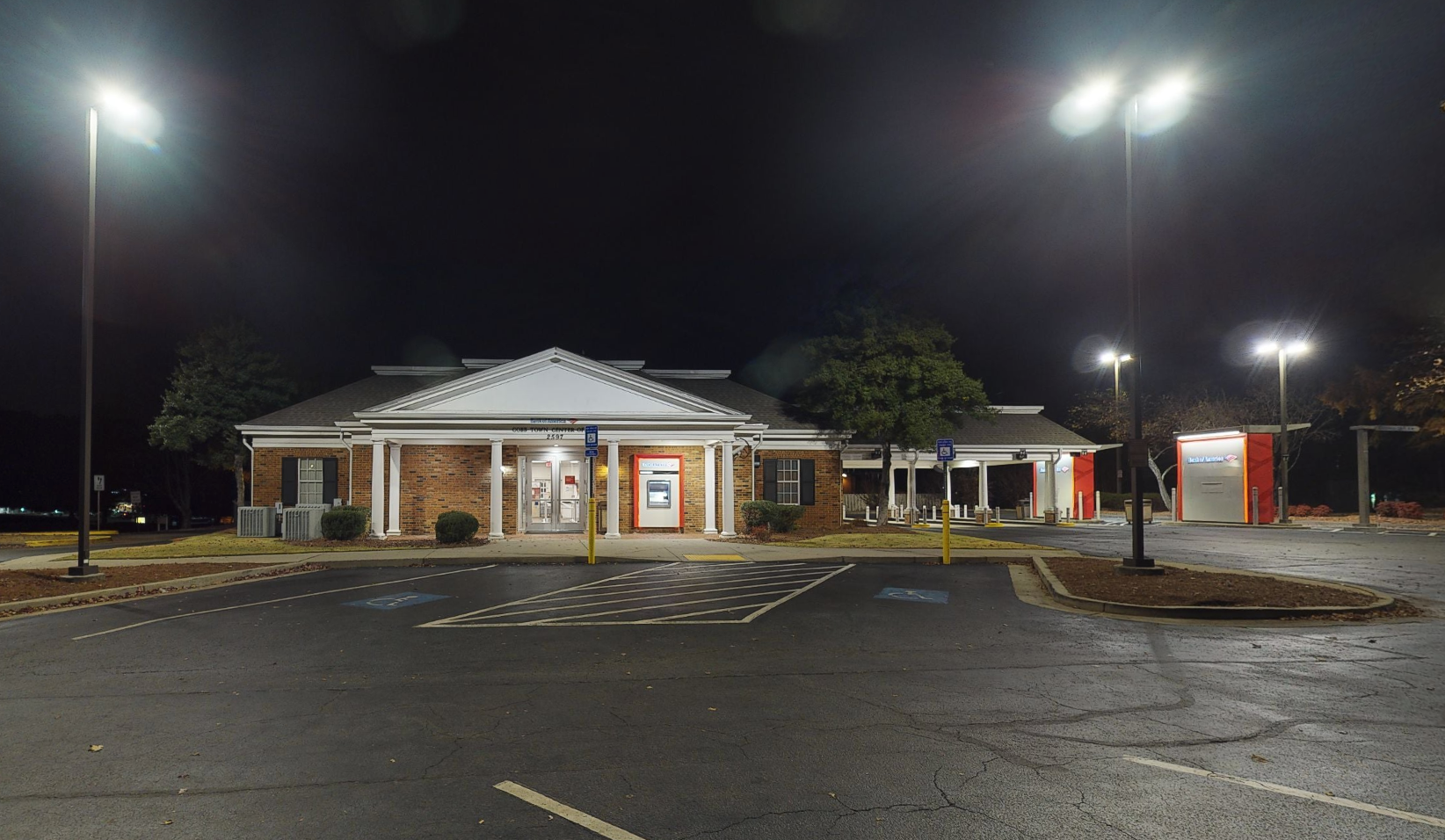Bank of America financial center with drive-thru ATM and teller   2597 George Busbee Pkwy NW, Kennesaw, GA 30144