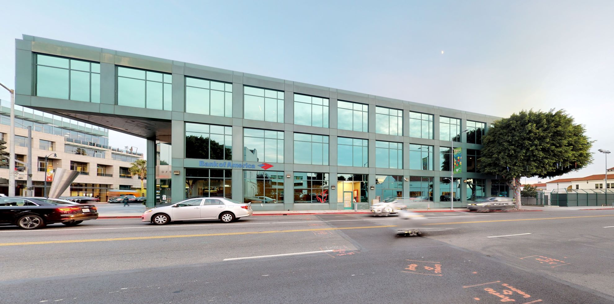 Bank of America financial center with walk-up ATM   8760 Wilshire Blvd, Beverly Hills, CA 90211