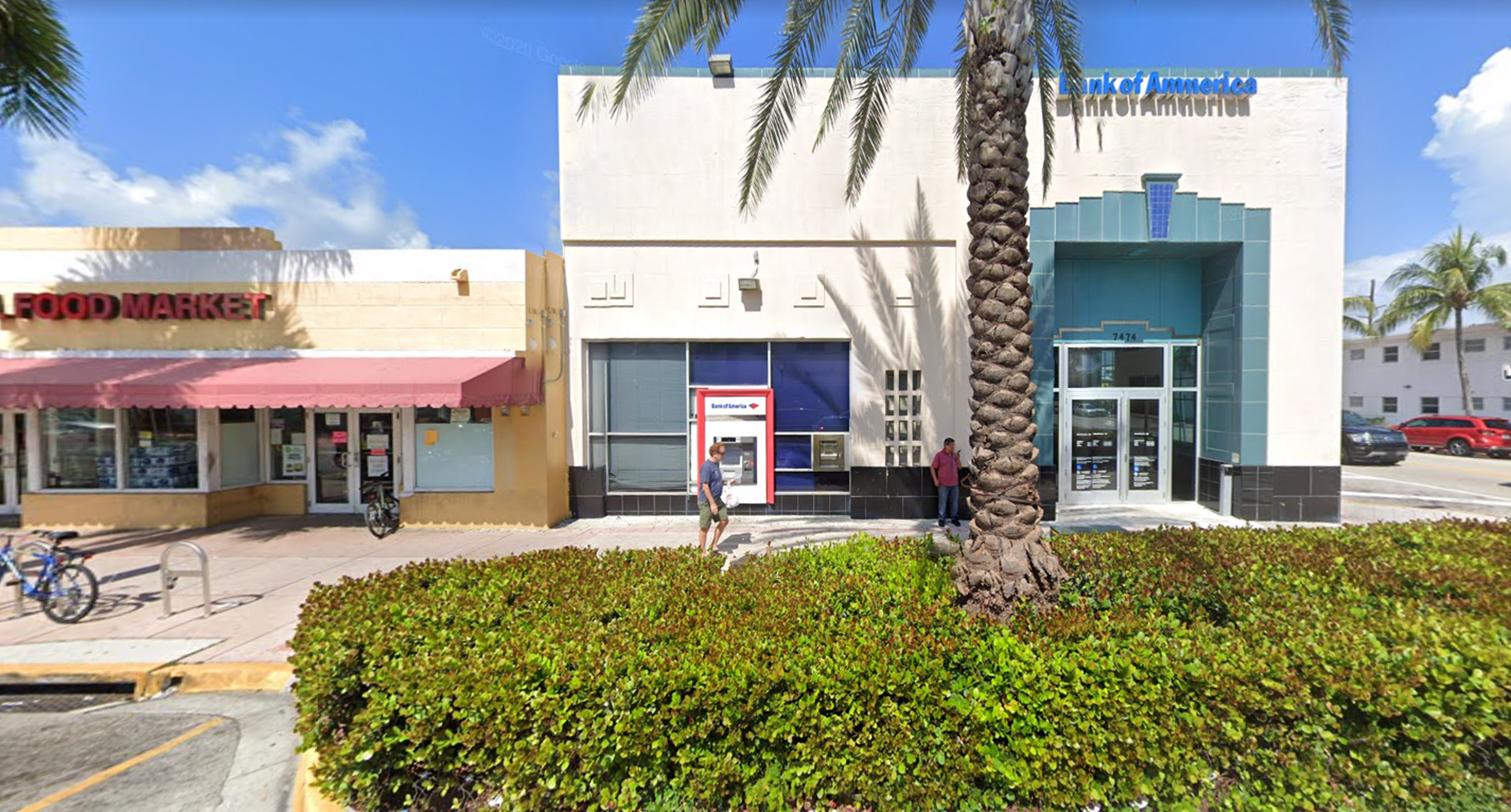 Bank of America financial center with walk-up ATM   7474 Collins Ave, Miami Beach, FL 33141