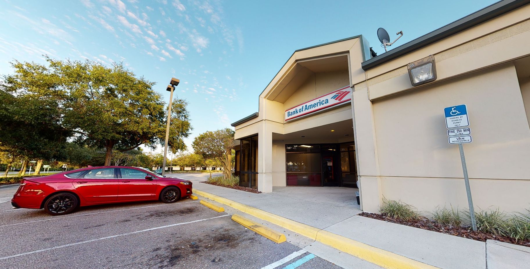 Bank of America financial center with drive-thru ATM and teller   4850 Belle Terre Pkwy, Palm Coast, FL 32164