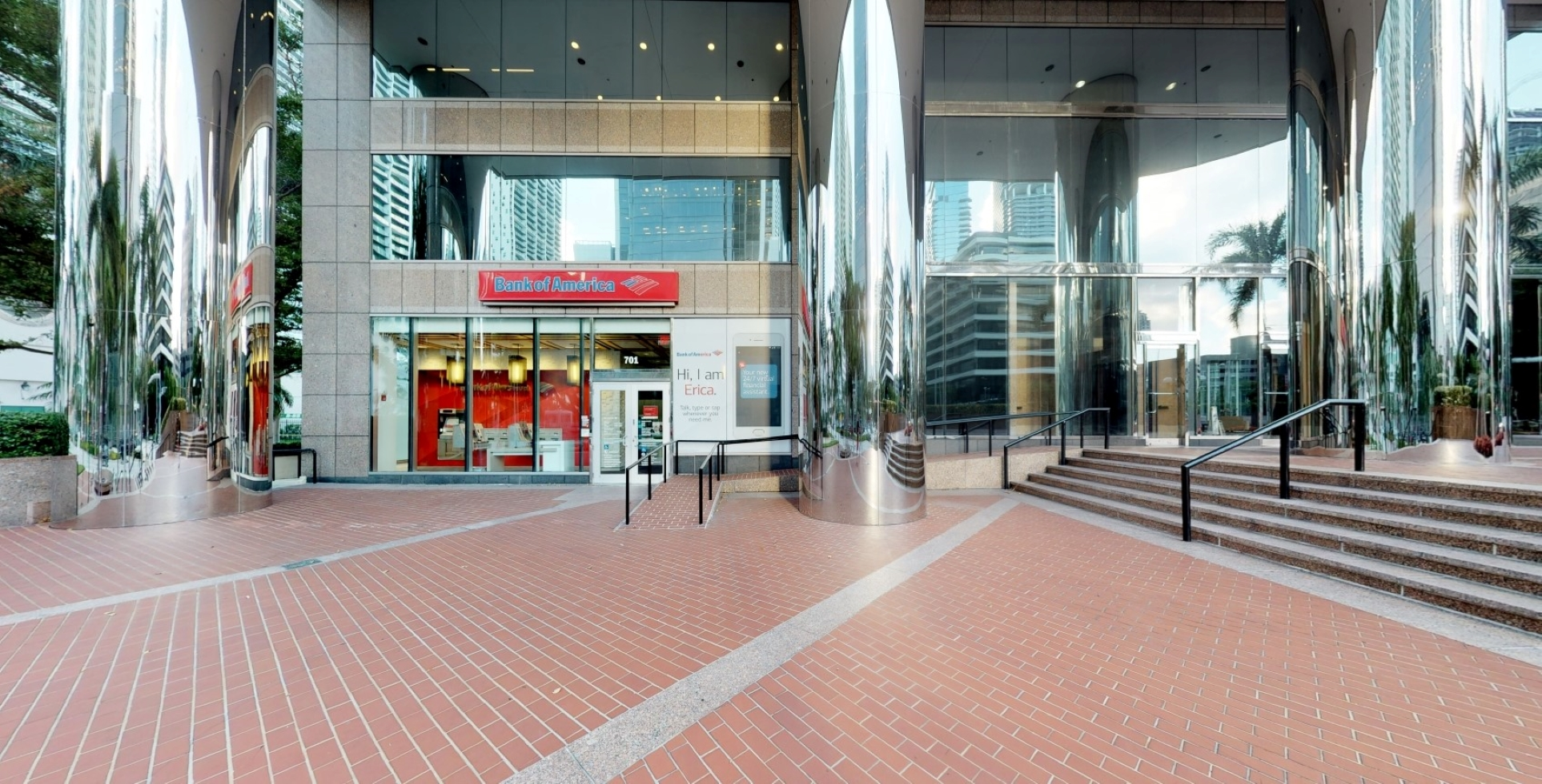 Bank of America financial center with walk-up ATM   701 Brickell Ave, Miami, FL 33131