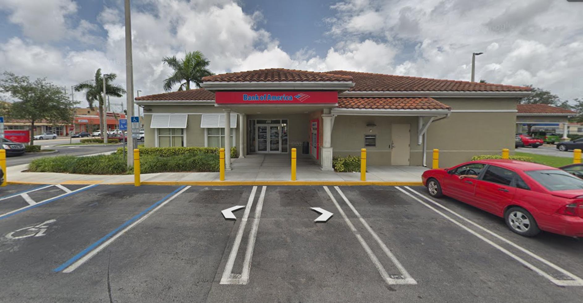 Bank of America financial center with drive-thru ATM | 175 E Hialeah Dr, Hialeah, FL 33010