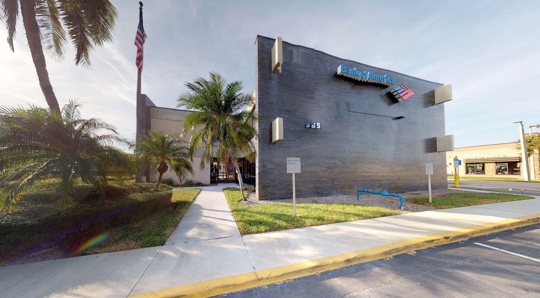 Bank of America financial center with drive-thru ATM   985 Pasadena Ave S, South Pasadena, FL 33707