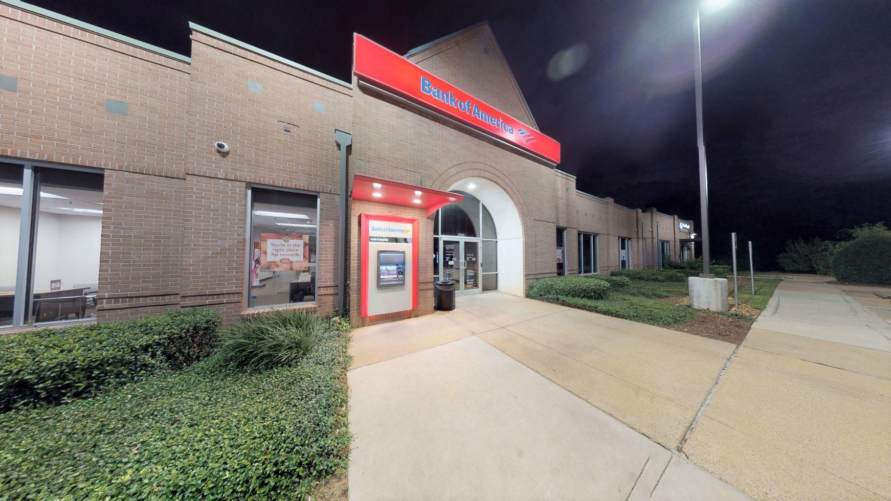 Bank of America financial center with drive-thru ATM   2900 W Davis St, Conroe, TX 77304