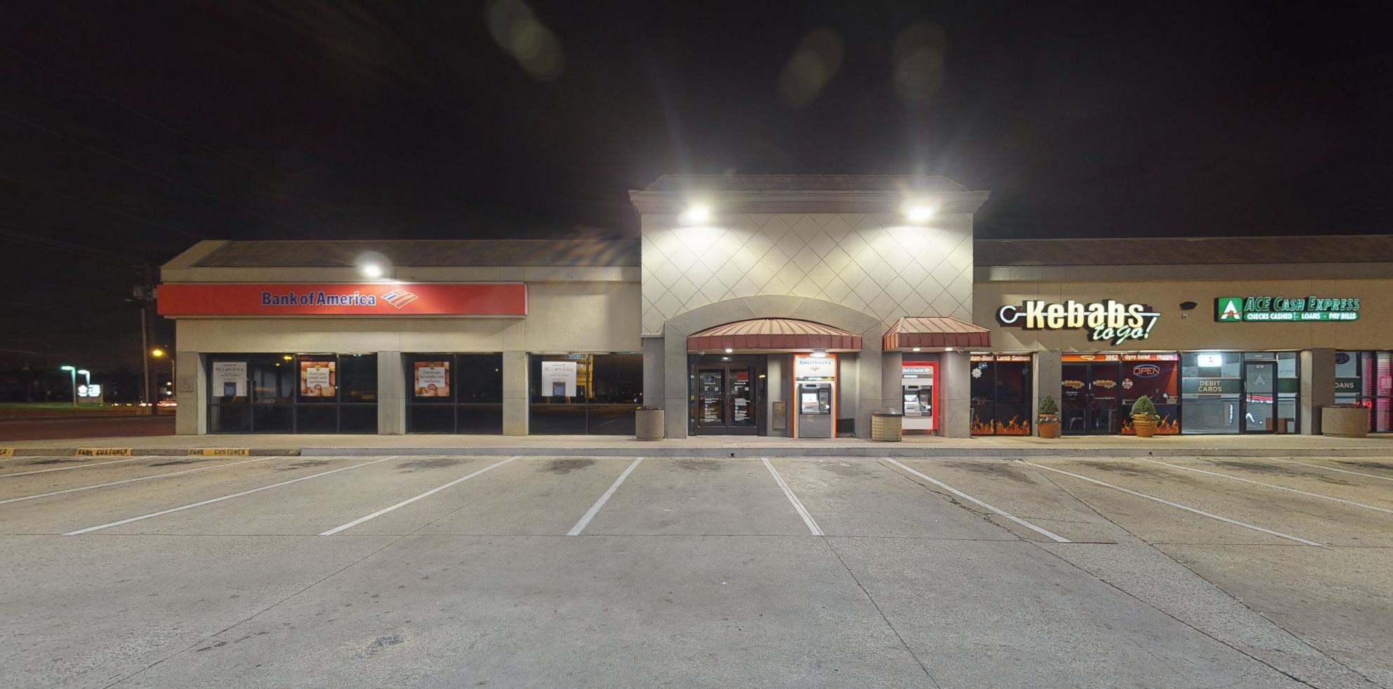 Bank of America financial center with drive-thru ATM | 3660 N Belt Line Rd, Irving, TX 75062