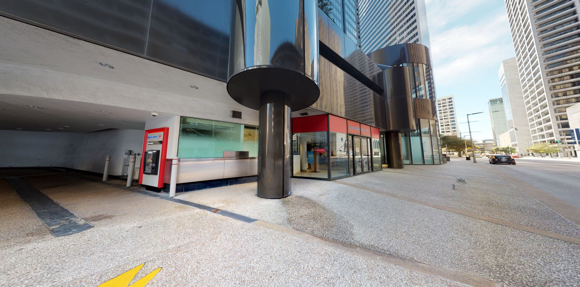Bank of America financial center with drive-thru ATM   909 Fannin St STE G100, Houston, TX 77010