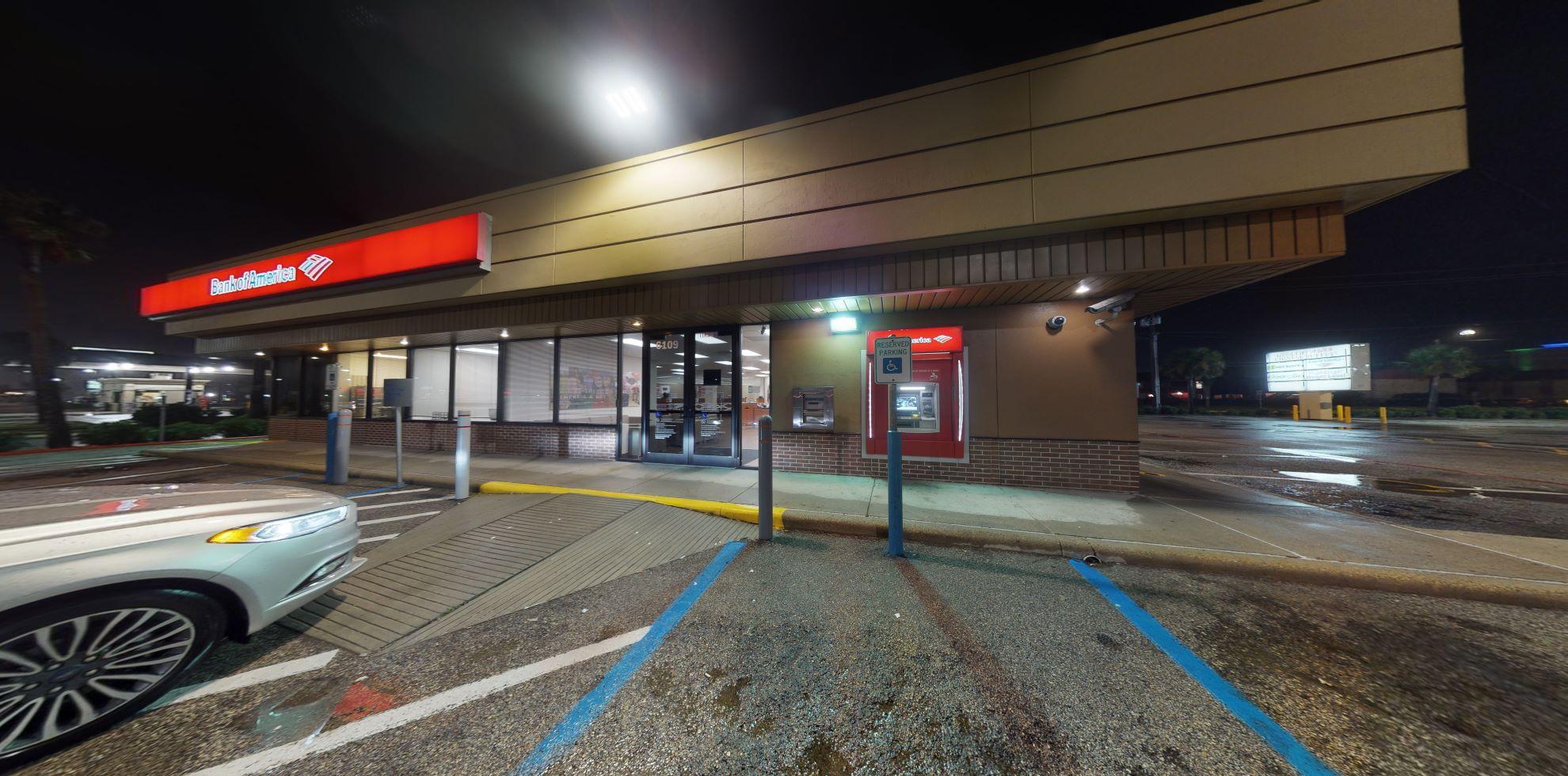 Bank of America financial center with walk-up ATM   6109 Central City Blvd, Galveston, TX 77551