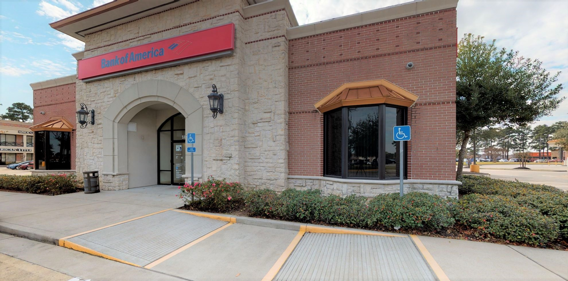 Bank of America financial center with drive-thru ATM   18505 Champion Forest Dr, Spring, TX 77379