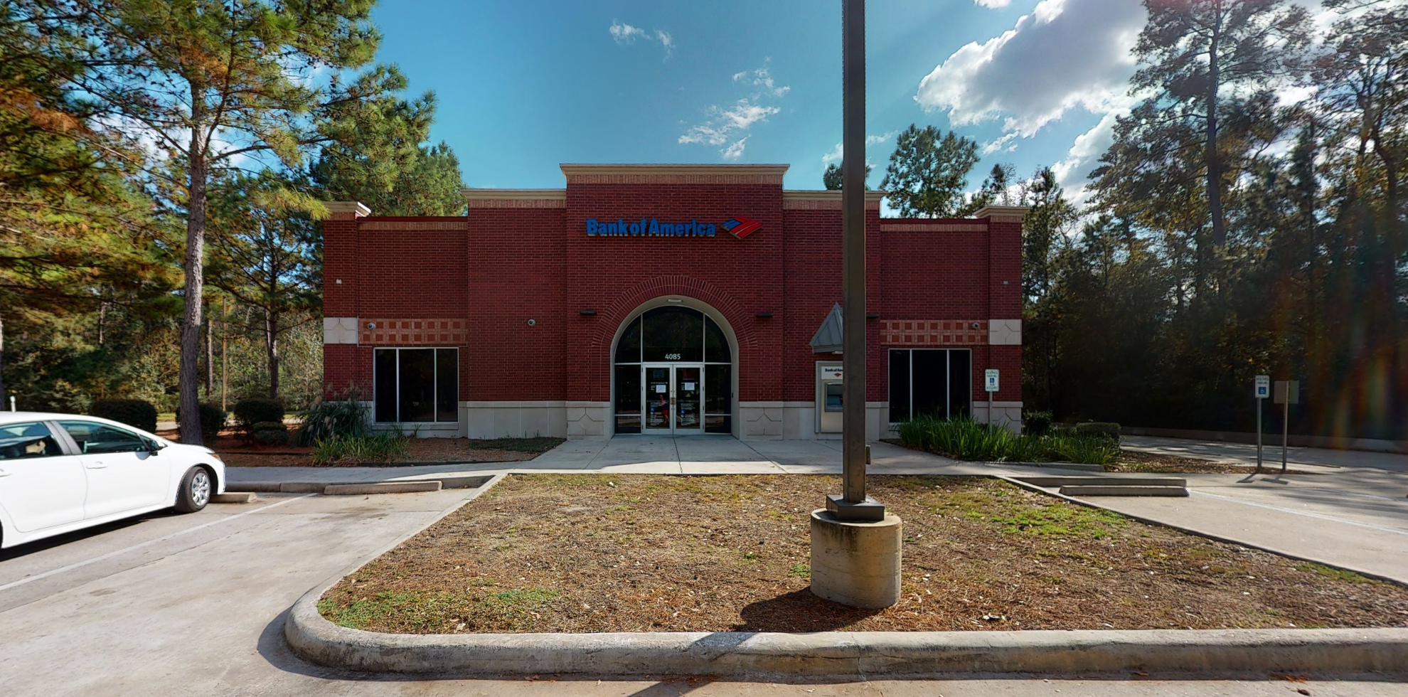 Bank of America financial center with drive-thru ATM   4085 College Park Dr, Conroe, TX 77384