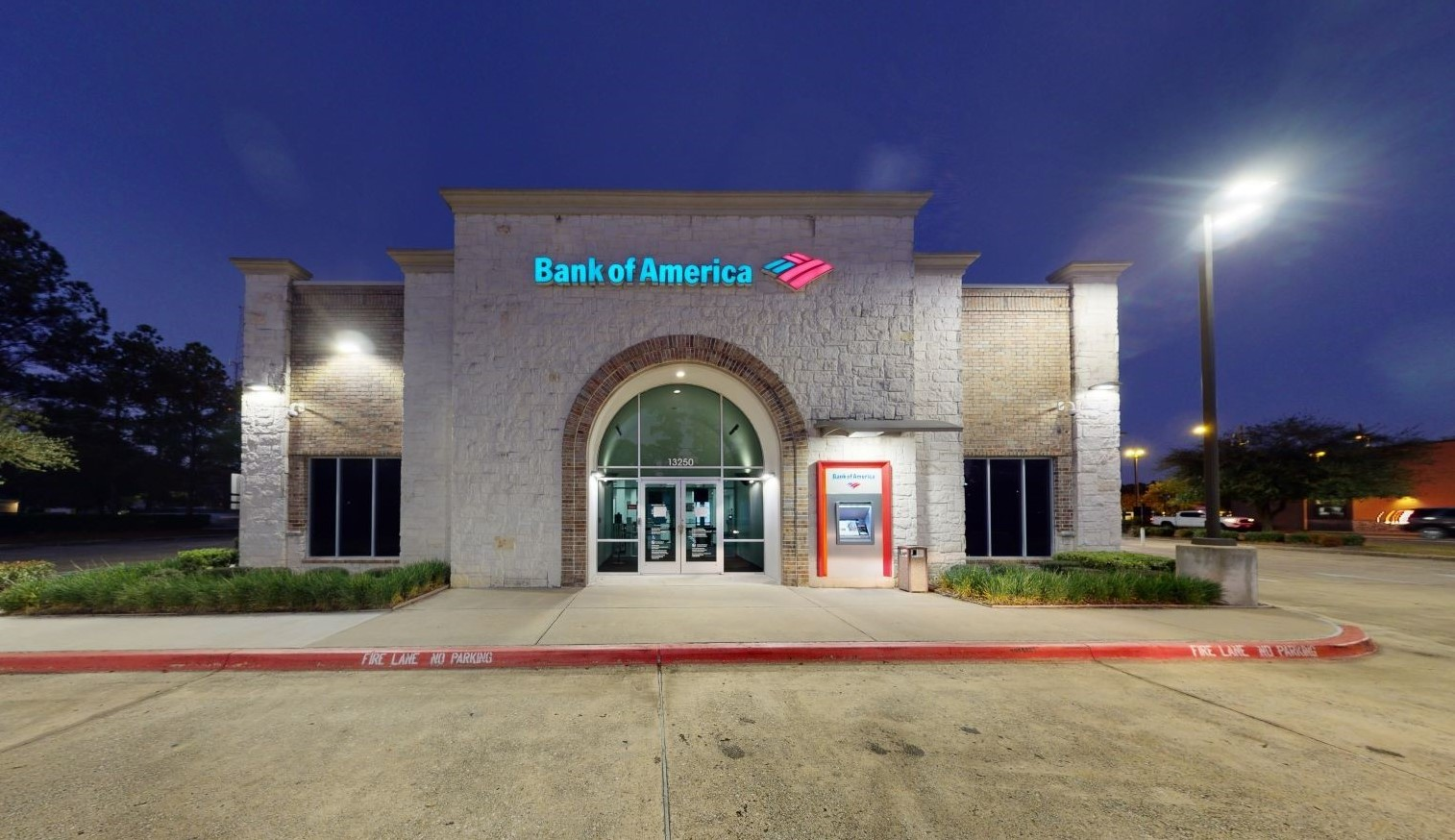 Bank of America financial center with drive-thru ATM   13250 Grant Rd, Cypress, TX 77429