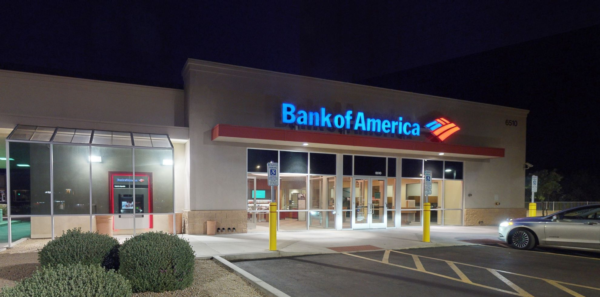 Bank of America financial center with drive-thru ATM   6510 W Happy Valley Rd, Glendale, AZ 85310