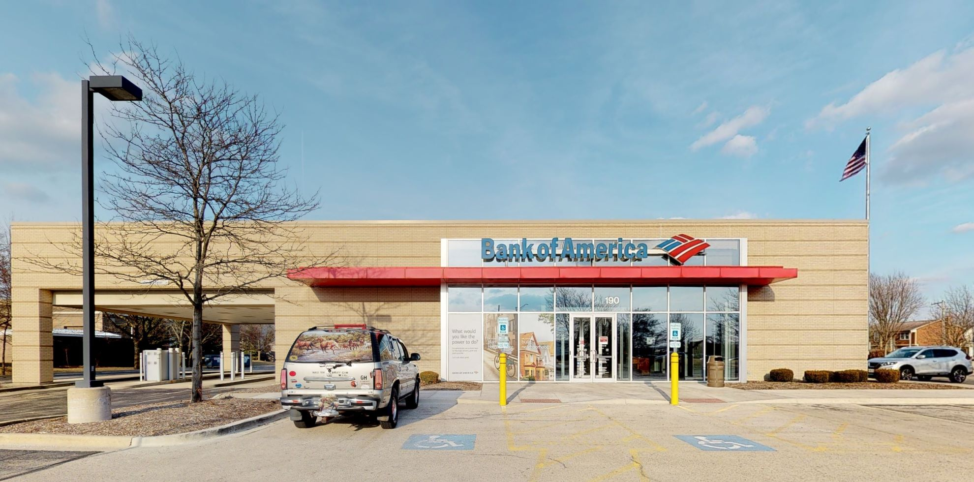 Bank of America financial center with drive-thru ATM   190 S Weber Rd, Bolingbrook, IL 60490