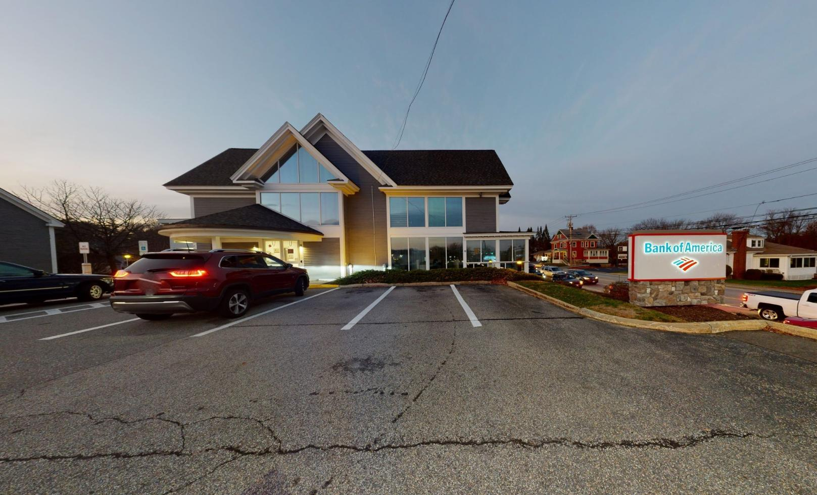 Bank of America financial center with drive-thru ATM   46 S River Rd, Bedford, NH 03110