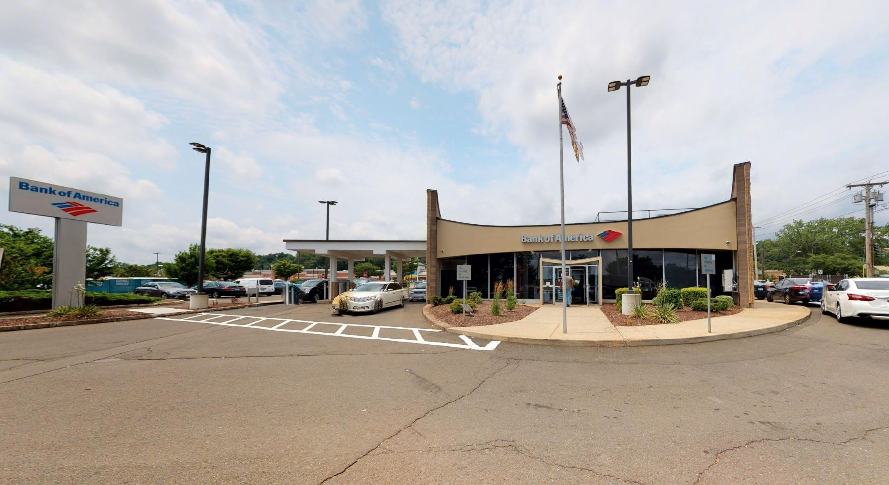 Bank of America financial center with drive-thru ATM   2340 Dixwell Ave, Hamden, CT 06514