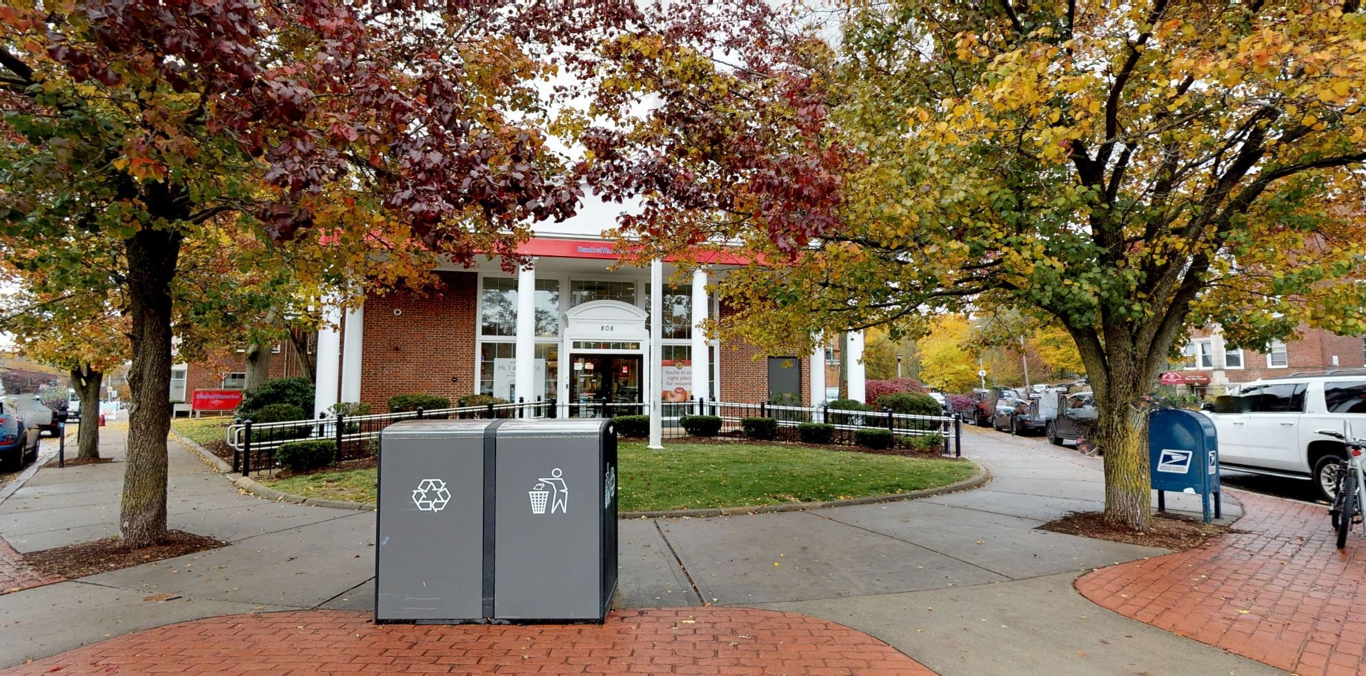 Bank of America financial center with drive-thru ATM   808 Beacon St, Newton, MA 02459