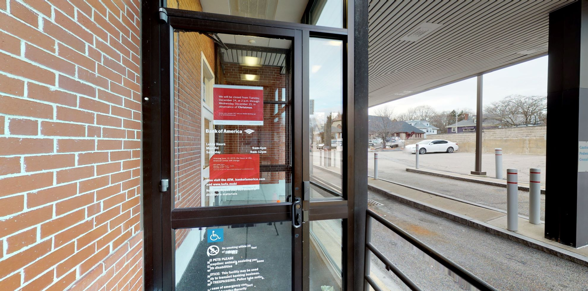 Bank of America financial center with drive-thru ATM | 1857 Centre St, West Roxbury, MA 02132