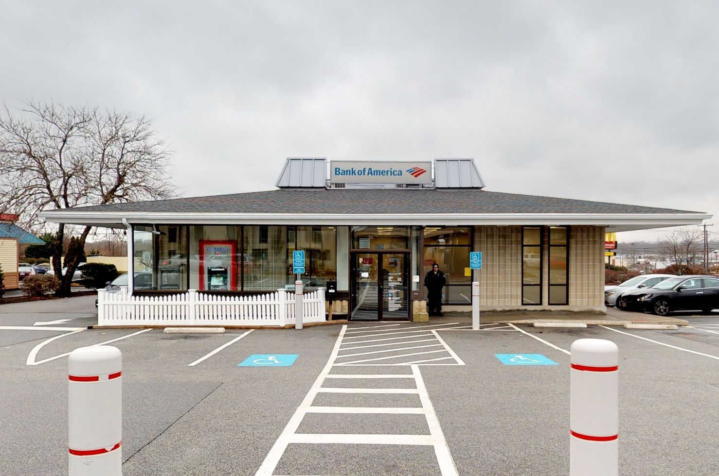 Bank of America financial center with drive-thru ATM   1021 Fall River Ave, Seekonk, MA 02771