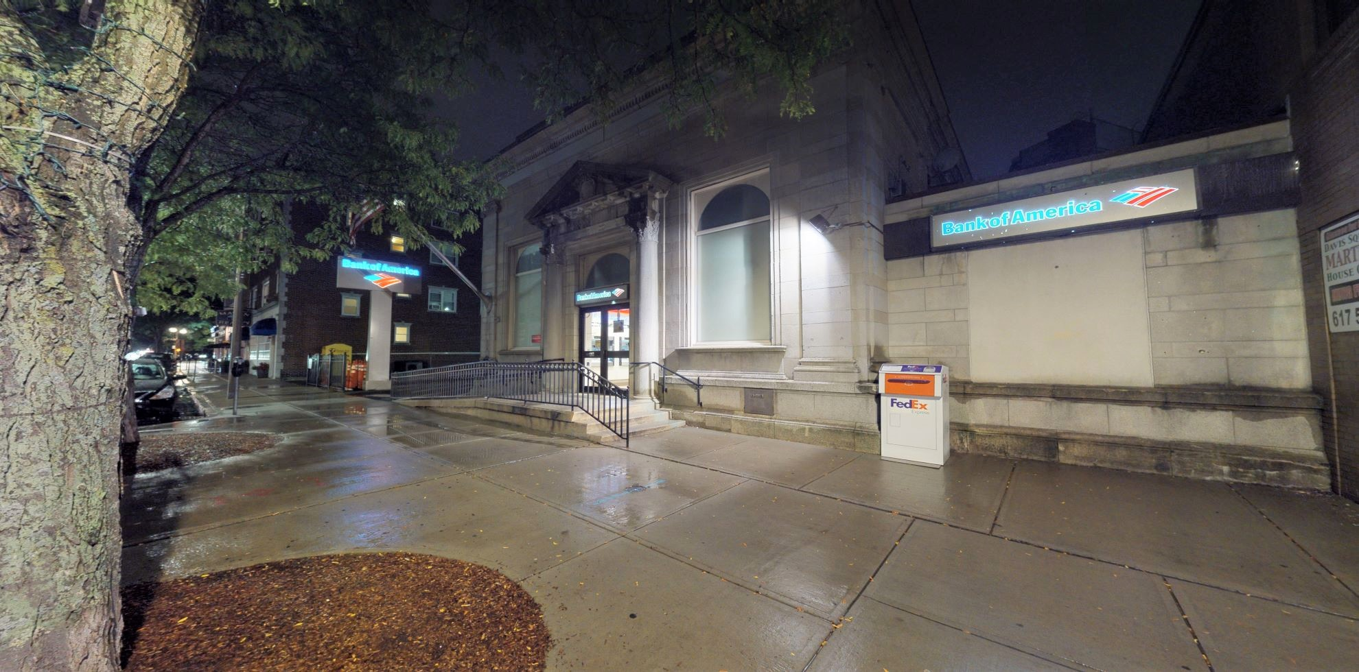 Bank of America financial center with walk-up ATM   406 Highland Ave, Somerville, MA 02144