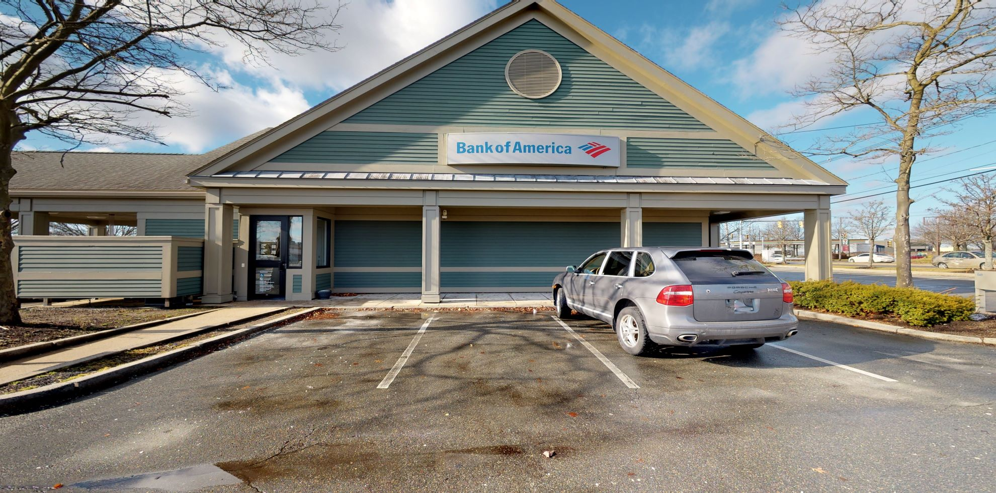 Bank of America financial center with drive-thru ATM and teller   16 Berdon Way, Fairhaven, MA 02719