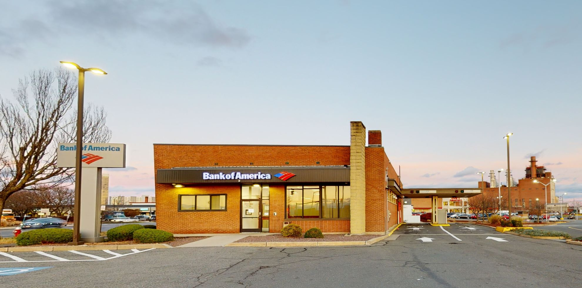 Bank of America financial center with drive-thru ATM   225 Memorial Ave, West Springfield, MA 01089