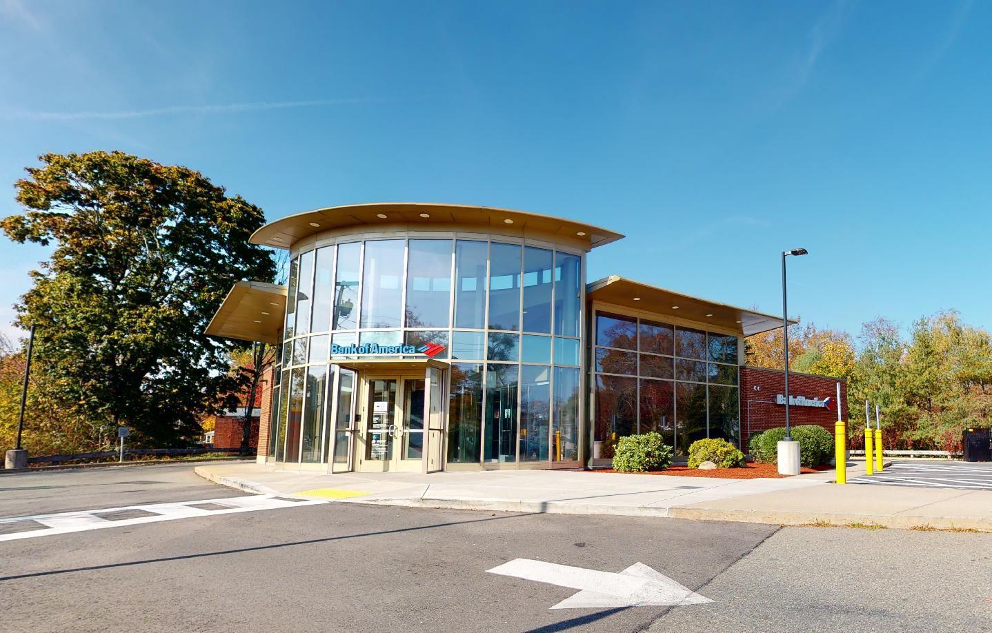 Bank of America financial center with drive-thru ATM | 93 Brockton Ave, Abington, MA 02351