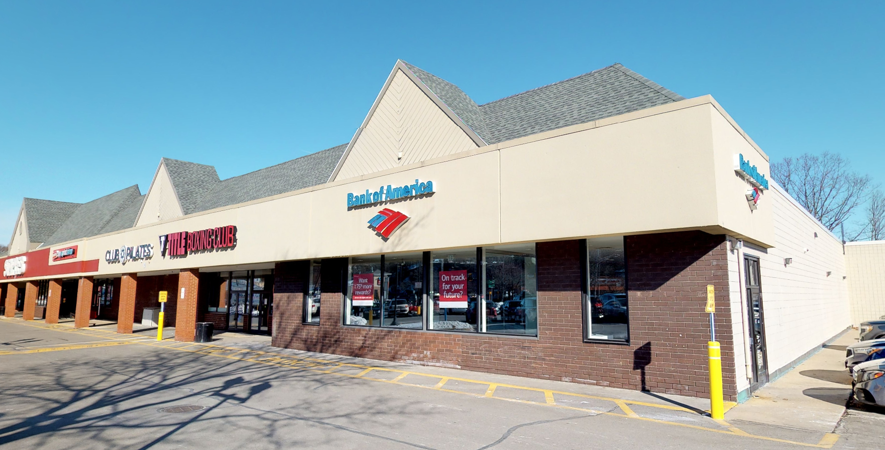Bank of America financial center with walk-up ATM   21 Paradise Rd, Salem, MA 01970