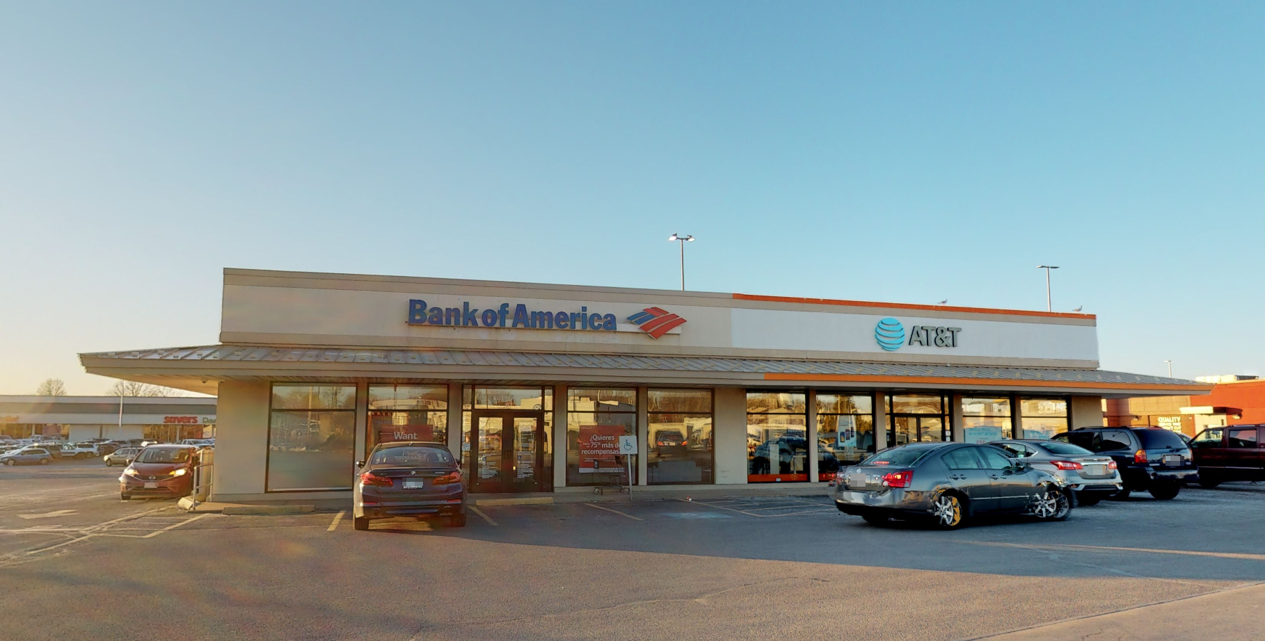 Bank of America financial center with drive-thru ATM | 87 Mariano Bishop Blvd, Fall River, MA 02721