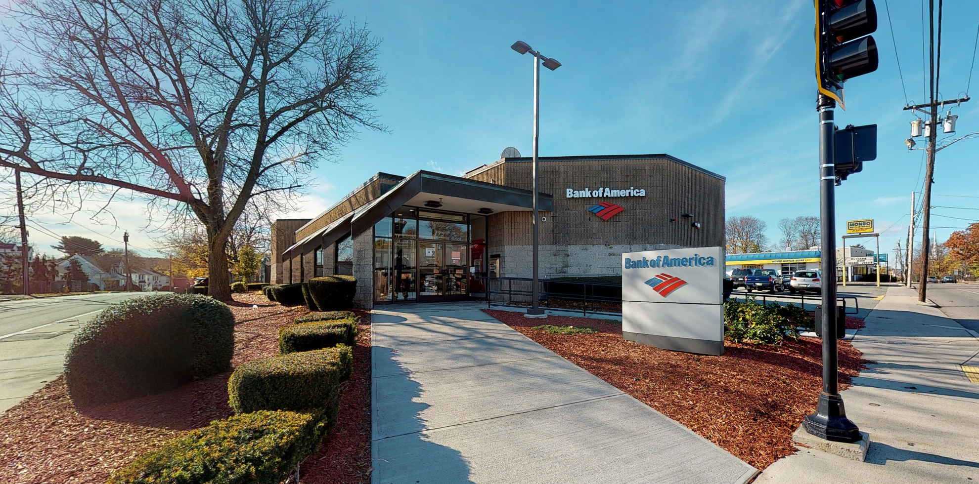 Bank of America financial center with drive-thru ATM and teller   690 Adams St, Quincy, MA 02169