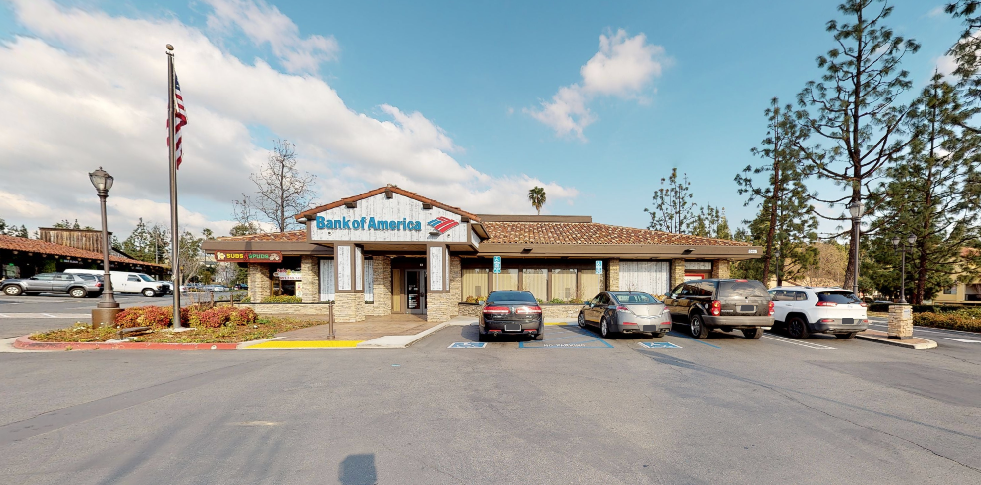 Bank of America financial center with drive-thru ATM   5225 Canyon Crest Dr, Riverside, CA 92507